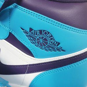 dd7615f1a6d7 Jordan Shoes - NIKE AIR JORDAN 1 MID HORNETS BLUE LAGOON SIZE 13